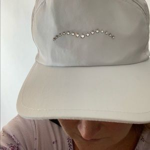 Amino, made in Italy, NWT, white diamonds hat.
